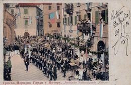 RARE !! Kotor - Cattaro , Serbische Nationalgarde Cattaro , Serbia - Voir Dos Levant De Kotor Vers Chalons Sur Marne - Montenegro