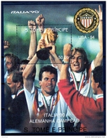 Sao Tome E Principe, 1990, Soccer World Cup Italy, Football, MNH, Michel Block 234 - Sao Tome Et Principe