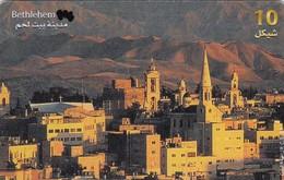 Palestine, PS-PAL-0009B, Bethlehem City, 2 Scans.   EXP : 01/02    Writing On Back - Palestine