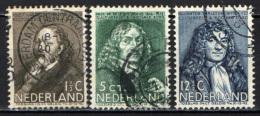 OLANDA - 1937 - PERSONALITA': MARIS, DE LA BOE, VAN LEEUWENHOEK - USATI - Used Stamps