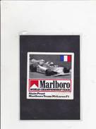 Sticker Marlboro - Alain Prost - Mc Laren F1 - Automobile - F1