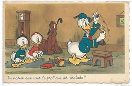 WALT DISNEY - DONALD - Tu Paries Que C'est Le Prof'qui Est Malade ? - Disney
