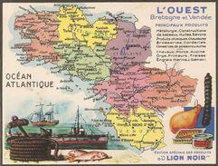 Publicite Produits Du Lion Noir L'ouest Bretagne Et Vendee - Other