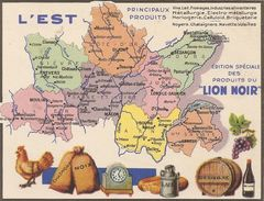 Publicite Produits Du Lion Noir L'est - Advertising