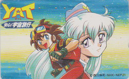 Télécarte Japon / 110-011 - MANGA - YAT - NHK Radio Television - ANIME Japan Phonecard - BD COMICS TK - 9481 - BD