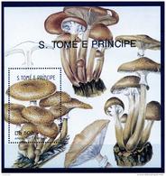 Sao Tome E Principe, 1991, Mushrooms, Flora, MNH, Michel Block 260 - Sao Tomé E Principe