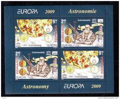 Romania 2009 Astronomy, EUROPA CEPT VFU, Minisheet  4 Stamp . - Blocks & Kleinbögen