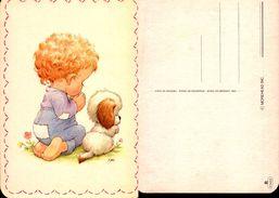 Bébé Faisant Sa Prière Avec Son Chien - MOREHEAD Inc. R87462 - Dessins D'enfants