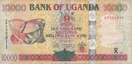 BILLETE DE UGANDA DE 10000 SHILLINGS DEL AÑO 2005 (ANTILOPE-DEER) (BANKNOTE) - Uganda