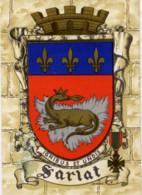 24 SARLAT - Blason, Armes De La Ville, Héraldique - Superbe CPSM (à Plats Or Et Argent) N° 1319 S Barré-Dayez - Sarlat La Caneda