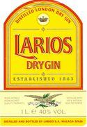 1374 - Espagne - Andalousie - Larios Dry Gin - Laqrios S.A. Málaga - Etiquettes
