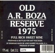 1375 - Espagne - Andalousie - Old A.R. Boza Reserve 1975 - Full Rich Sweet Wine - Hijos De Jose Suarez Villalba - Etiquettes
