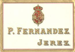 1376 - Espagne - Andalousie - Etiquette Vierge P. Fernandez - Jerez - Labels