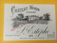 5533 -  Château Morin Sidaine 1979 Saint Estèphe - Bordeaux