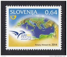SLOVENIA SLOVENIE 2014. EUROMED POSTAL. JOINT ISSUE - Eslovenia