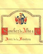 1382 - Espagne - Andalousie - Etiquette Générique Sanchez De Alba & Cº. - Jerez De La Frontera - Labels