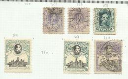 Espagne N°256, 257, 259, 261, 264, 277 Cote 12.20 Euros - 1889-1931 Königreich: Alphonse XIII.