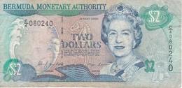 BILLETE DE BERMUDA DE 2 DOLLAR DEL AÑO 2000   (BANKNOTE) CARACOLA-SEA SHELL - Bermudas