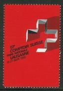 Suisse // Schweiz // Switzerland //  Erinnophilie // Vignette  Du 51ème Comptoir Suisse Lausanne 1970 - Erinnophilie