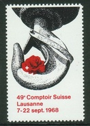 Suisse // Schweiz // Switzerland //  Erinnophilie // Vignette  Du 49ème Comptoir Suisse Lausanne 1968 - Erinnophilie