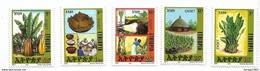 1994 Ethiopia Enset Plant  Complete Set Of 5 MNH - Ethiopia