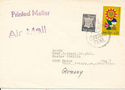 Israel Cover Sent Air Mail To Germany 31-112-1967 (special Christmas Postmark) - Israel
