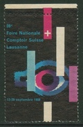 Suisse // Schweiz // Switzerland //  Erinnophilie // Vignette  Du 39ème Comptoir Suisse Lausanne 1958 - Erinnophilie