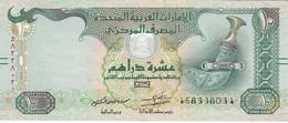 BILLETE DE EMIRATOS ARABES DE 10 DIRHAMS DEL AÑO 2015  (BANKNOTE) - Emiratos Arabes Unidos