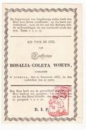 DP Rosalia Coleta Woets ° 1791 † Dixmude Diksmuide 1833 - Images Religieuses