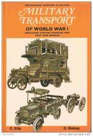 MILITARY TRANSPORT WW1 VEHICULE TRANSPORT MILITAIRE ARMEE GUERRE 1914 TAXI CAMION TRAIN VOITURE MOTO - Véhicules