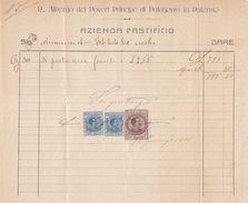 PALERMO  _ 1925  /  Regio Albergo Dei Poveri Principe Di Palagonia  - Documento Commerciale _ Marche Da Bollo - Italia
