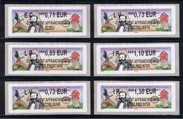 6 ATMs, Lisa2,COMPL. NOUVEAU PROGRAMME,0.71/0.73/0.85/1.10/1.30. Lisa2, H. Dunant, Expo Phil INTER,Croix Rouge St Louis - 2010-... Geïllustreerde Frankeervignetten