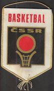 Basketball / Flag, Pennant / Czechoslovakia / Czechoslovak Basketball Federation - Bekleidung, Souvenirs Und Sonstige