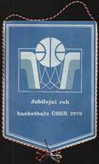 Basketball / Flag, Pennant / Czechoslovakia - Bekleidung, Souvenirs Und Sonstige