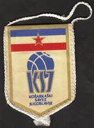 Basketball / Flag, Pennant / Yugoslavia Basketball Federation - Bekleidung, Souvenirs Und Sonstige
