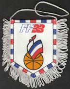 Basketball / Flag, Pennant / France Basketball Federation - Habillement, Souvenirs & Autres