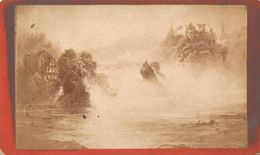 Foto Op Hard Karton Photo (6 X 10,5cm)  Schaffhausen Rheinfall - Anciennes (Av. 1900)