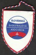 Basketball / Flag, Pennant / Slovakia Basketball Federation - Bekleidung, Souvenirs Und Sonstige