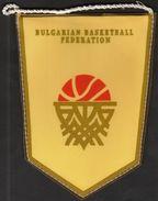 Basketball / Flag, Pennant / Bulgaria / Bulgarian Basketball Federation - Bekleidung, Souvenirs Und Sonstige