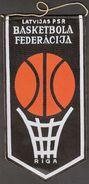 Basketball / Flag, Pennant / Latvia Basketball Federation - Habillement, Souvenirs & Autres