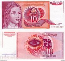Yugoslavia - 10 Dinar 1990 UNC - Joegoslavië