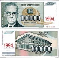 Yugoslavia - 10000000 Dinar 1993 UNC - Joegoslavië