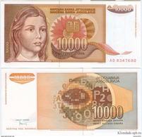 Yugoslavia - 10000 Dinar 1992 UNC - Joegoslavië