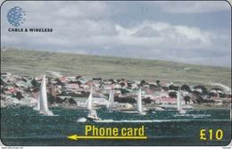 Falkland Phonecard  Yacht Race Departing Harbour - Falkland Islands