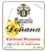 1383 - Espagne - Andalousie - Mazanilla Doñana - Cardenal Granuel - Sanlucar De Barrameda - Etiquettes