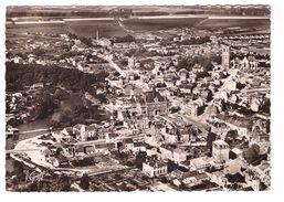 08 Rethel Vue Aerienne Hotel De Ville Eglise St Nicolas Bords De L' Aisne CPSM GF Cachet 1949 - Rethel