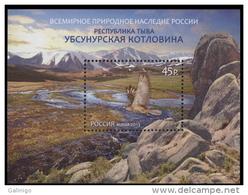 2013 S/S Russia Russland Russie Rusia World Natural Heritage Uvs Nuur Ubsunur Basin-birds Mountains Mi 1913 (Bl.181) MNH - 1992-.... Federazione