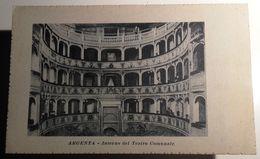 EMILIA ROMAGNA – FERRARA – ARGENTA – INTERNO DEL TEATRO COMUNALE FORMATO PICCOLO- NON VIAGGIATA – ANNI 20/30 – CONDIZION - Ferrara