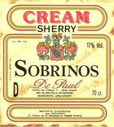 1390 - Espagne - Andalousie - Cream Sherry - Sobrinos - De Paul - Jerez - Importé Par Hédiard Paris - Etiquettes