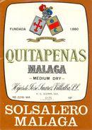 1391 - Espagne - Andalousie - Quitapenas Malaga - Medium Dry - Solsalero Malaga - Hijos José Suarez Villaba - Etiquettes